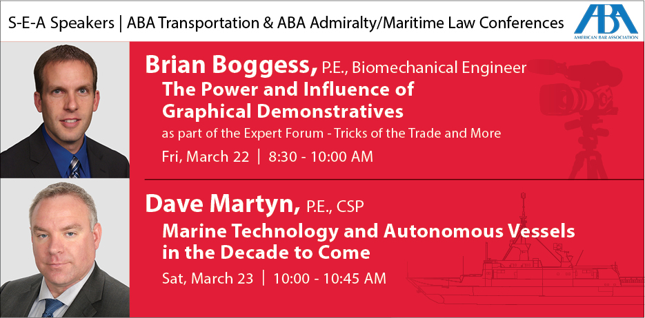 S-E-A Speakers at the ABA Transportation & ABA Admiralty/Maritime Law Conference