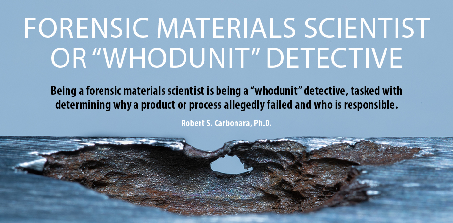 Forensic Materials Scientist Article Highlights the Surprising Similarities Between the Roles