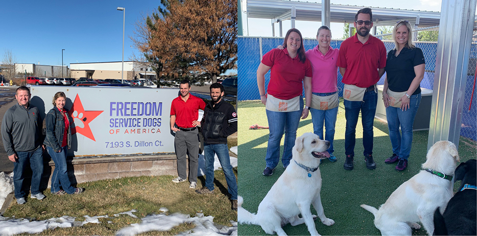 Colorado Office Volunteers at Freedom Service Dogs of America