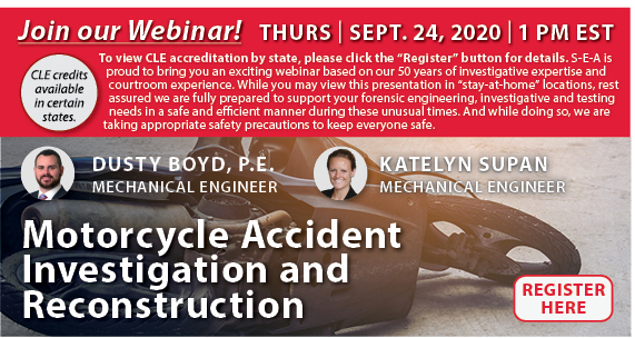 Join us for a Webinar on Motorcycle Accident Investigation and Reconstruction
